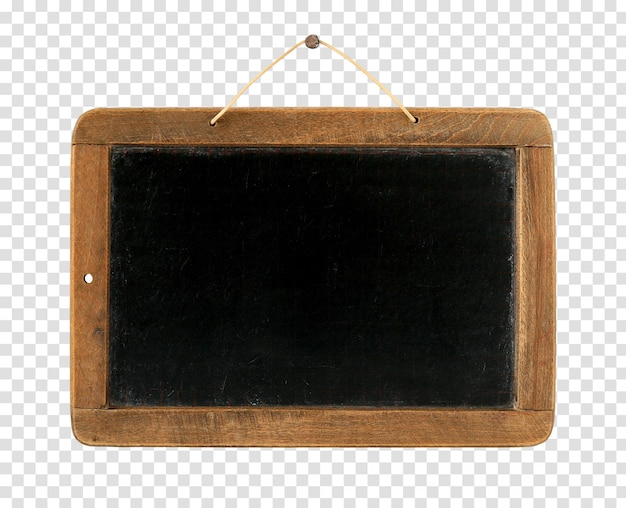 Old vintage blackboard isolated