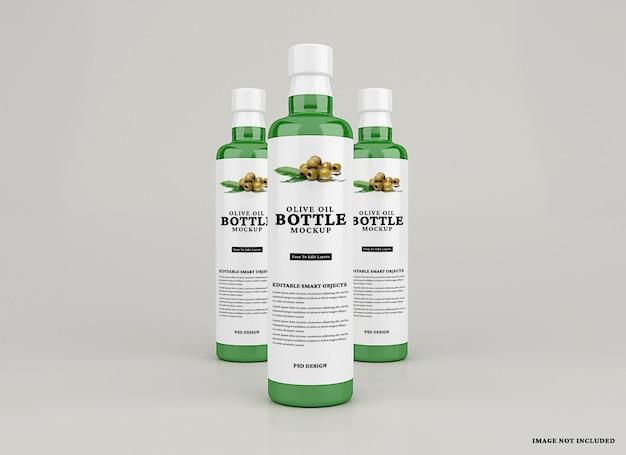 分離されたオリーブオイルボトルのモックアップ