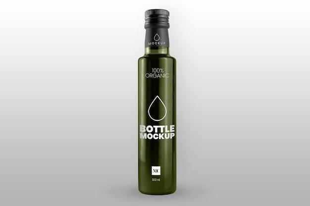 Mockup di bottiglia di olio d'oliva