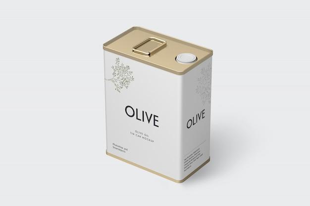 Olive tin mockup