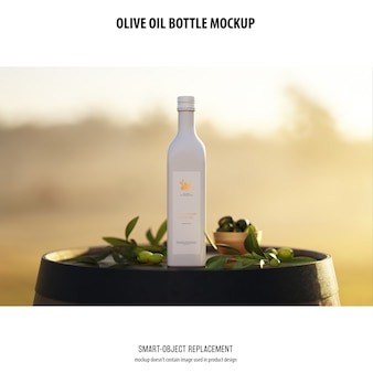 Olve oil bottle mockup