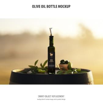 Bottiglia di olio olve mockup