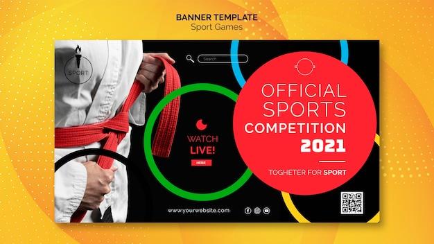 Modello di banner per i giochi olimpici