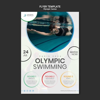 Olympic games print template