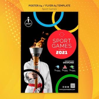 Modello di stampa dei giochi olimpici