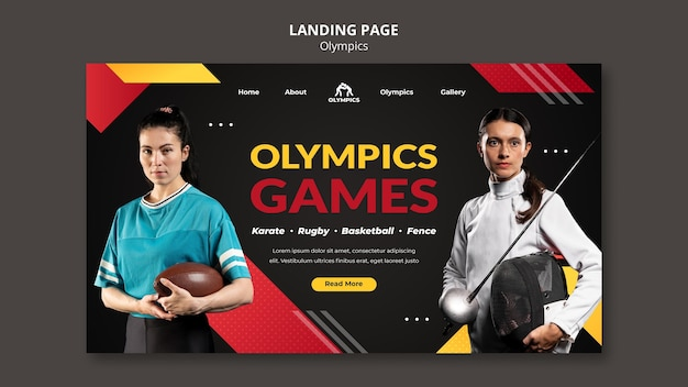 オリンピックのウェブテンプレート