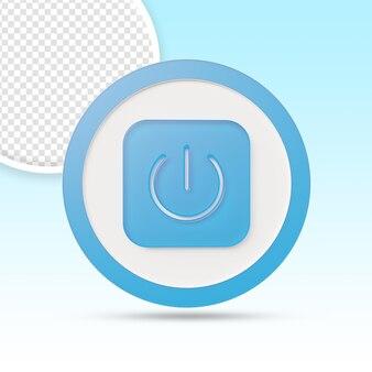 Включение и выключение кнопки запуска и остановки в дизайне 3d-рендеринга