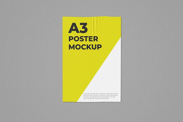 One a3 poster mockup