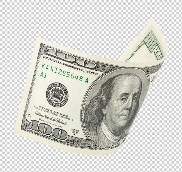 백 달러 지폐 프리미엄 PSD 파일