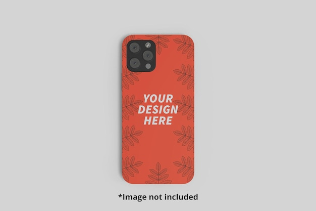One phone casing mockup from the top perspective