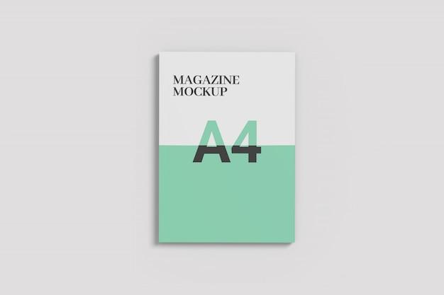 One side magazine mockup