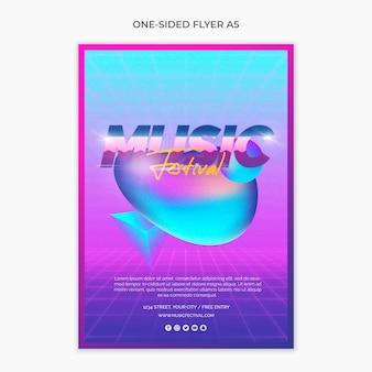 Односторонний флаер а5 для музыкального фестиваля 80-х