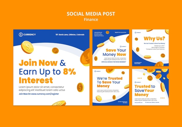 Online banking social media post template