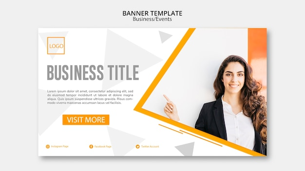 Online banner template concept for companies