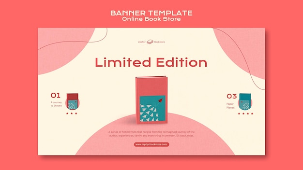 Online book store banner template