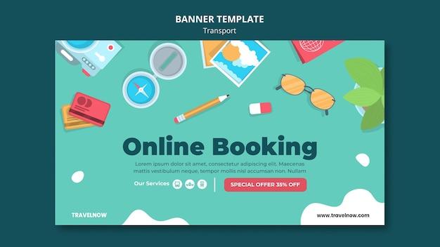 Modello di banner di prenotazione online