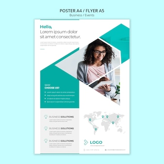 Online business poster template