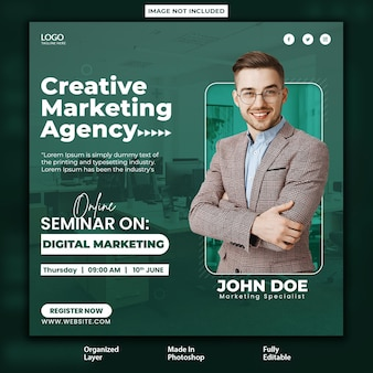 Online business seminar on business growth post design