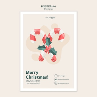 Online christmas shopping poster template