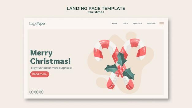 Целевая страница шаблона рождественских покупок онлайн