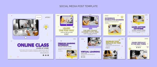 Online class social media posts