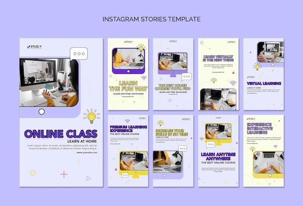Online class social media stories