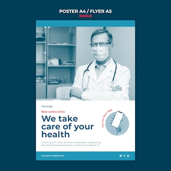 Online clinic poster template