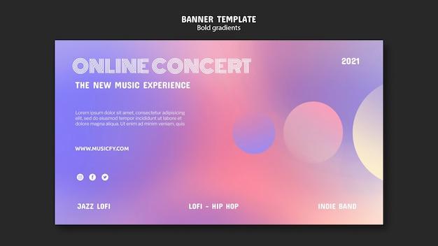 Шаблон баннера онлайн-концерта