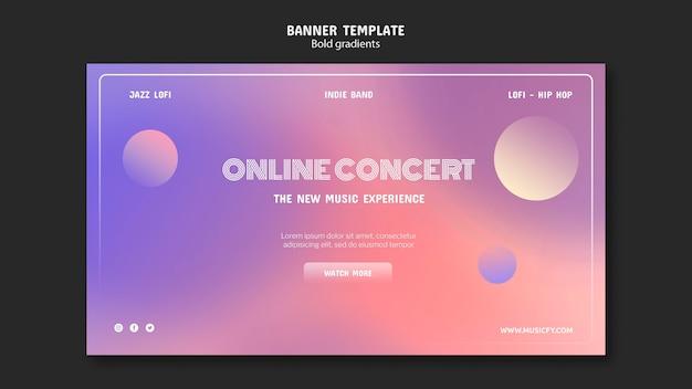 オンラインコンサートバナーテンプレート