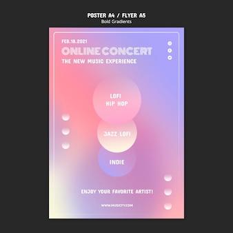 온라인 콘서트 포스터 템플릿