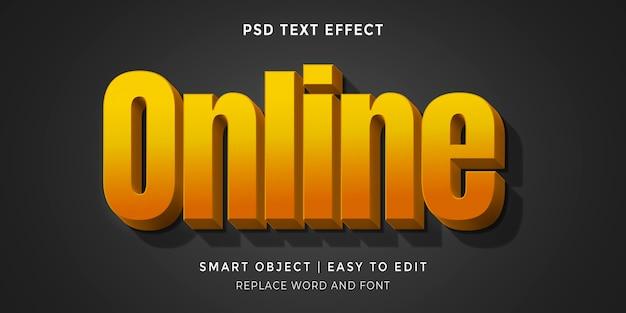 Редактируемый онлайн текстовый эффект в стиле 3d