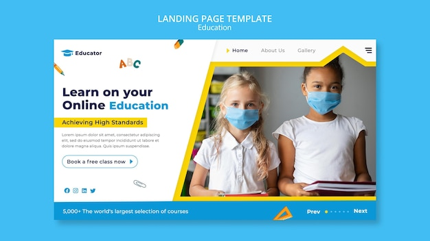 Online education banner template