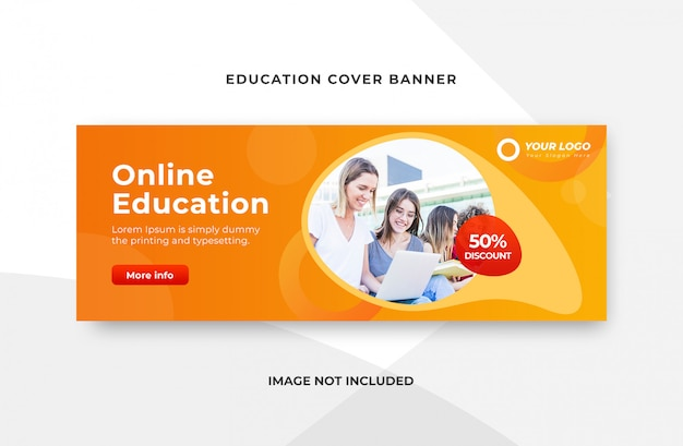 Online Education Banner Template Premium Psd File
