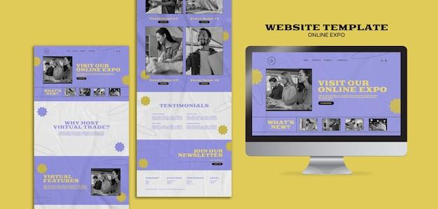 Шаблон веб-дизайна онлайн-выставки