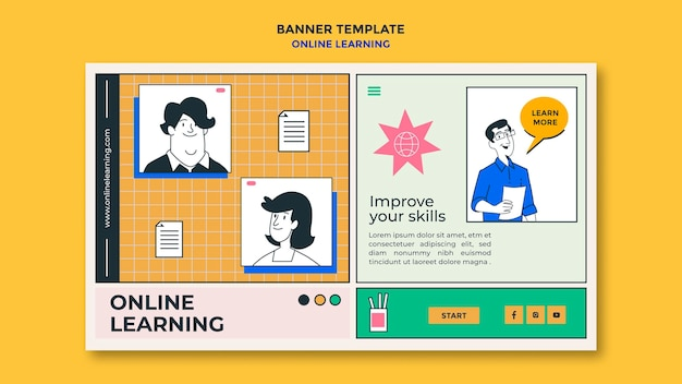 Online learning ad banner template
