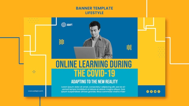 Modello di banner di apprendimento online