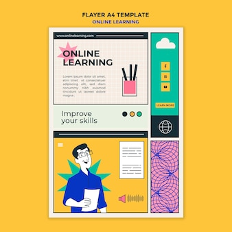 オンライン学習チラシテンプレート