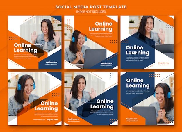 온라인 학습 instagram 포스트 번들 템플릿