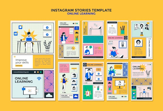 Online learning instagram stories template