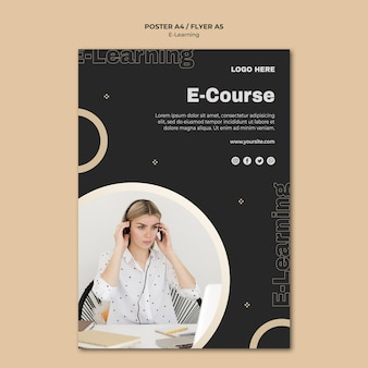 Online learning poster template