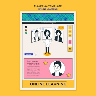 オンライン学習ポスターテンプレート