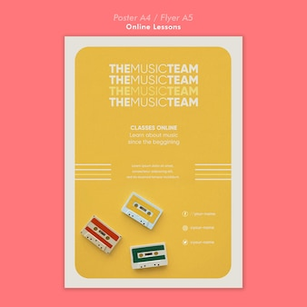 Online lessons poster