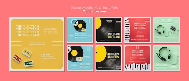 Post sui social media delle lezioni online