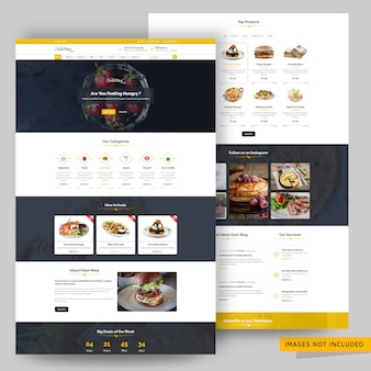 Online organic food store web page premium psd