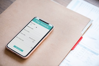 Online payment concept with smartphone
