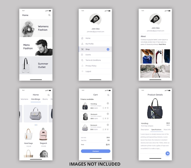 Online purchasing mobile ui kit