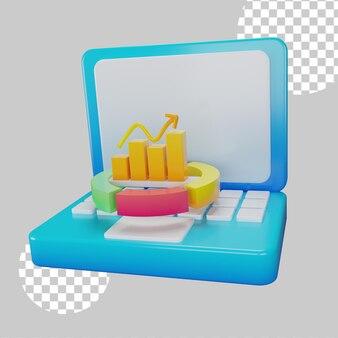 Интернет-отчет концепции 3d иллюстрации