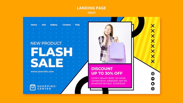 オンライン販売のランディングページ