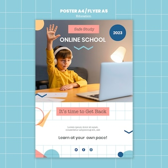 Online school print template