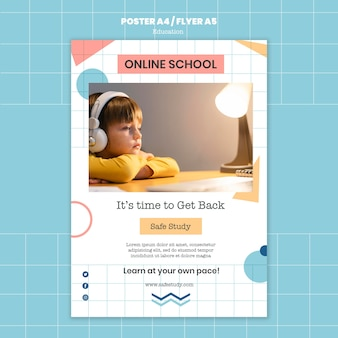 オンライン学校の印刷テンプレート